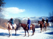 Lodging package with year round horseback riding