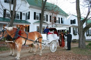 Take a fall carriage ride with someone special-fall elopement packages