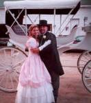 A Fairy Tale wedding or Elopement with horse-drawn carriage