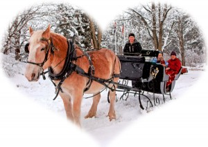 Take a Romantic Sleigh Ride for Two  at Farm By The River Bed & Breakfast in North Conway, NH