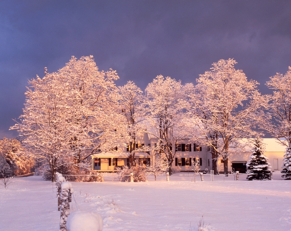Enjoy a winter wonderland at the Farm by the River Bed and Breakfast
