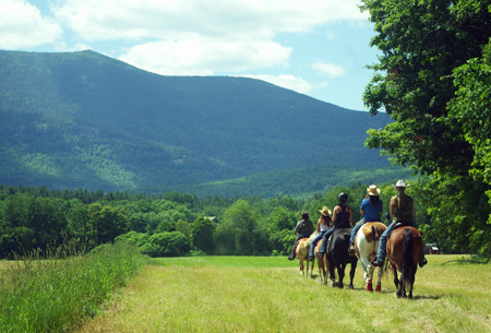Horseback riding at the Farm by the River with Panoramic Mountain Views