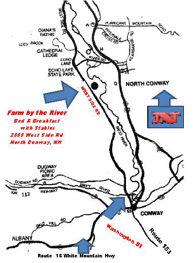 How  to find the Farm by the River Bed and Breakfast with Stables