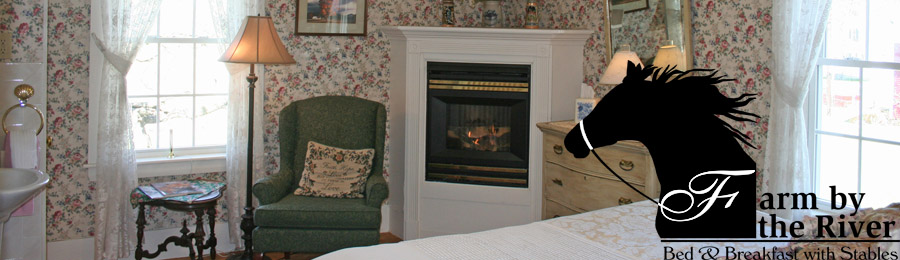 Rooms with fireplaces at Farm by the River Bed and Breakfast in North Conway