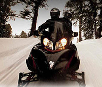 Snowmobiling package  North Conway, NH