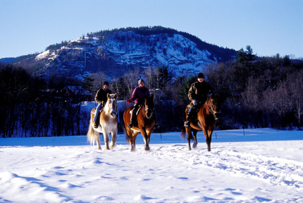 winter horseback riding stables, Farm by the River North Conway