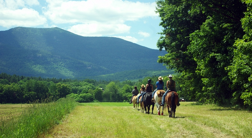 Horseback riding at the Farm by the River B ans B with Stables, North Conway, NH